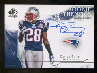 2009 Upper Deck SP Authentic #336 Darius Butler RC Autograph /799
