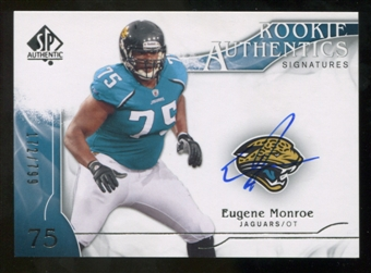 2009 Upper Deck SP Authentic #337 Eugene Monroe RC Autograph /799