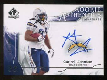 2009 Upper Deck SP Authentic #340 Gartrell Johnson Autograph /799