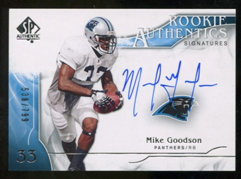 2009 Upper Deck SP Authentic #342 Mike Goodson RC Autograph /799