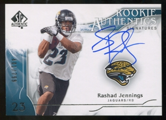 2009 Upper Deck SP Authentic #347 Rashad Jennings RC Autograph /799