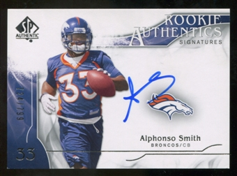 2009 Upper Deck SP Authentic #348 Alphonso Smith RC Autograph /799