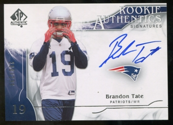 2009 Upper Deck SP Authentic #355 Brandon Tate RC Autograph /299