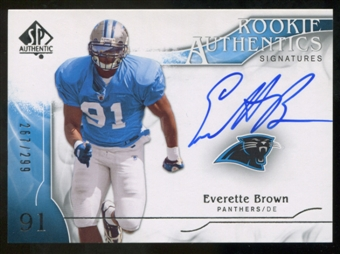 2009 Upper Deck SP Authentic #359 Everette Brown RC Autograph /299