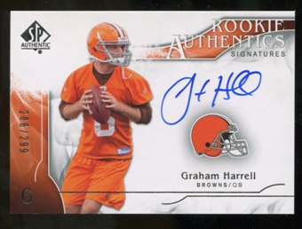 2009 Upper Deck SP Authentic #360 Graham Harrell RC Autograph /299
