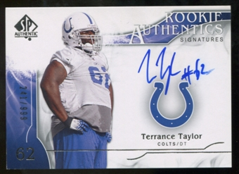 2009 Upper Deck SP Authentic #364 Terrance Taylor RC Autograph /999