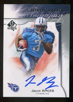 2009 Upper Deck SP Authentic Chirography #CHJR Javon Ringer Autograph