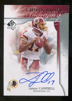 2009 Upper Deck SP Authentic Chirography #CHJC Jason Campbell Autograph