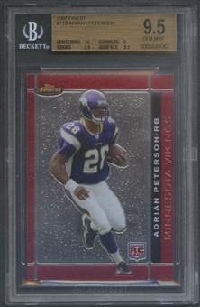 2007 Finest #112 Adrian Peterson Rookie BGS 9.5