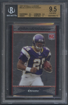 2007 Bowman Chrome #BC65 Adrian Peterson Rookie BGS 9.5