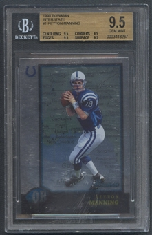 1998 Bowman #1 Peyton Manning Interstate Rookie BGS 9.5