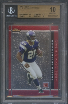 2007 Finest #112 Adrian Peterson Rookie BGS 10