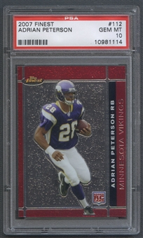 2007 Finest #112 Adrian Peterson Rookie PSA 10