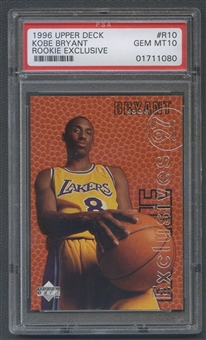 1996/97 Upper Deck Rookie Exclusives #R10 Kobe Bryant Rookie PSA 10
