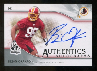 2009 Upper Deck SP Authentic Autographs #SPBO Brian Orakpo Autograph