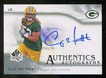 2009 Upper Deck SP Authentic Autographs #SPCM Clay Matthews Autograph