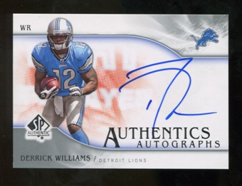 2009 Upper Deck SP Authentic Autographs #SPDW Derrick Williams Autograph