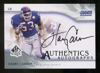 2009 Upper Deck SP Authentic Autographs #SPHC Harry Carson Autograph