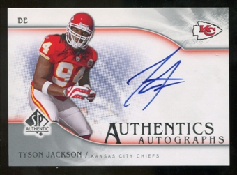2009 Upper Deck SP Authentic Autographs #SPTJ Tyson Jackson Autograph