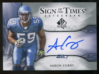 2009 Upper Deck SP Authentic Sign of the Times #STAC Aaron Curry Autograph