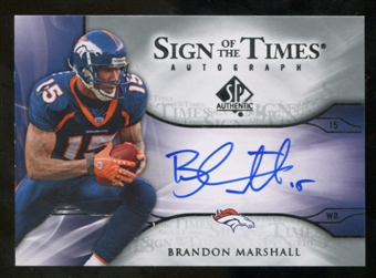 2009 Upper Deck SP Authentic Sign of the Times #STBM Brandon Marshall Autograph