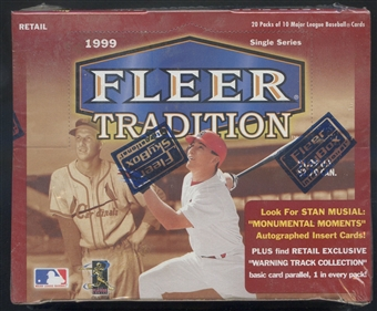 1999 Fleer Tradition Baseball Retail Box
