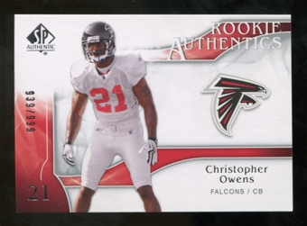 2009 Upper Deck SP Authentic #204 Christopher Owens RC /999