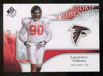 2009 Upper Deck SP Authentic #205 Lawrence Sidbury RC /999