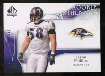2009 Upper Deck SP Authentic #209 Jason Phillips RC /999