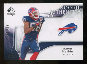 2009 Upper Deck SP Authentic #210 Aaron Maybin RC /999