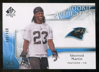 2009 Upper Deck SP Authentic #213 Sherrod Martin RC /999