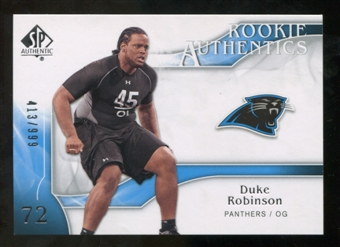 2009 Upper Deck SP Authentic #215 Duke Robinson RC /999
