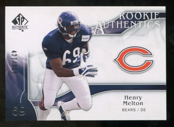2009 Upper Deck SP Authentic #217 Henry Melton /999