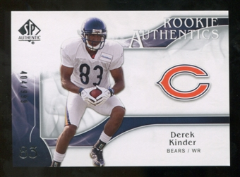 2009 Upper Deck SP Authentic #218 Derek Kinder RC /999
