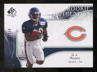 2009 Upper Deck SP Authentic #219 D.J. Moore RC /999