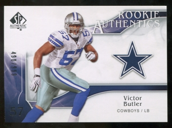 2009 Upper Deck SP Authentic #229 Victor Butler /999