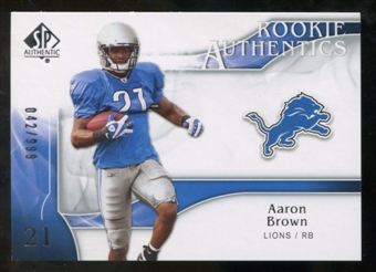 2009 Upper Deck SP Authentic #240 Aaron Brown /999