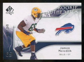 2009 Upper Deck SP Authentic #242 Jamon Meredith RC /999