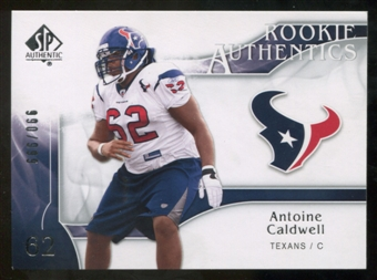 2009 Upper Deck SP Authentic #244 Antoine Caldwell /999