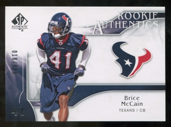 2009 Upper Deck SP Authentic #247 Brice McCain RC /999
