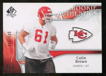 2009 Upper Deck SP Authentic #258 Colin Brown /999