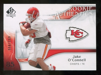 2009 Upper Deck SP Authentic #260 Jake O'Connell RC /999