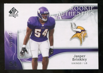 2009 Upper Deck SP Authentic #265 Jasper Brinkley /999