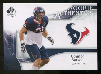 2009 Upper Deck SP Authentic #270 Connor Barwin RC /999