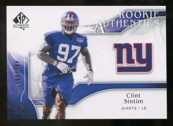 2009 Upper Deck SP Authentic #273 Clint Sintim RC /999