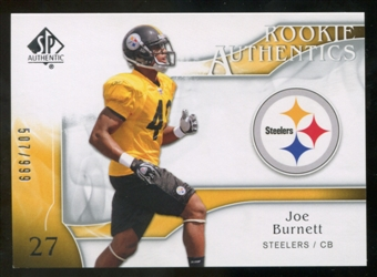2009 Upper Deck SP Authentic #282 Joe Burnett RC /999