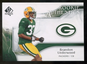 2009 Upper Deck SP Authentic #284 Brandon Underwood RC /999