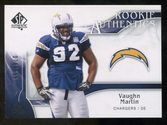 2009 Upper Deck SP Authentic #286 Vaughn Martin RC /999
