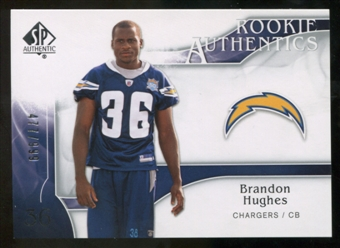 2009 Upper Deck SP Authentic #288 Brandon Hughes /999