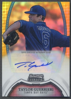 2011 Bowman Sterling Prospect #TGU Taylor Guerrieri Gold Refractor Rookie Auto #24/50